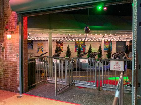 Orlando,FL/USA-10/5/19: .Rock n Roller Coaster theme park ride exit at Disney World Hollywood Studios park
