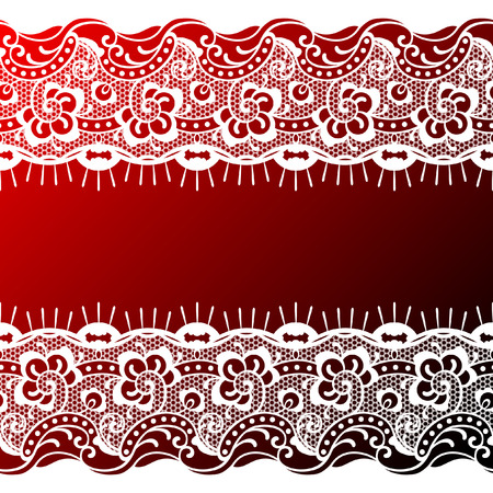 red-white lace background Vector