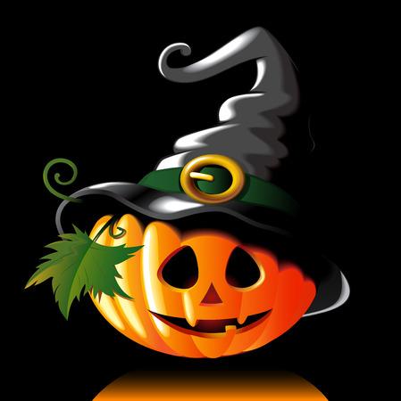 green lantern: Halloween pumpkin illustration Illustration