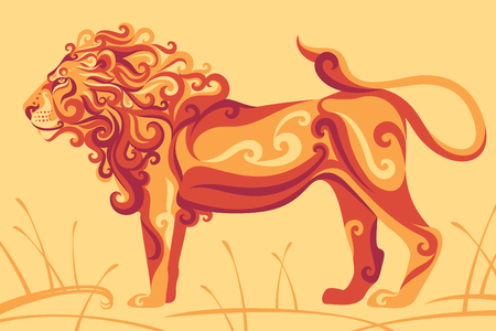 Lion animal illustration. Ilustrace