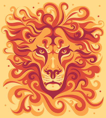 lion head animal illustration.