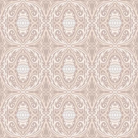 curled up: decoretive damask pattern background