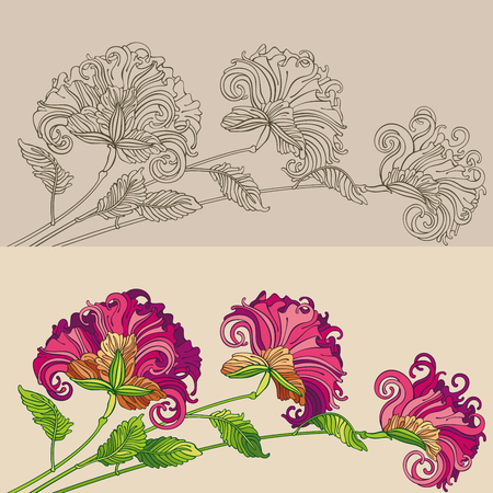 Floral decorative ornament