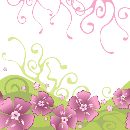 Pattern with flowers Ilustrace