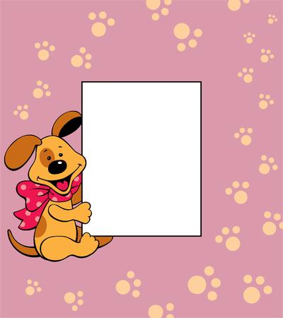 puppy frame Reklamní fotografie - 76485019