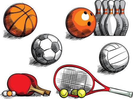 set of sports equipment