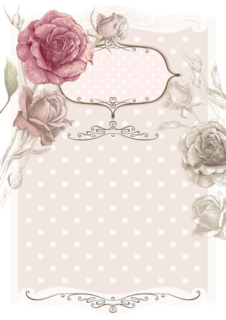 Vector vintage flower frame Reklamní fotografie - 76485041