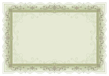 retro frame page decoration Ilustrace