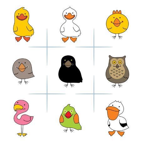 birds Ilustrace