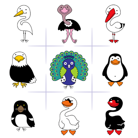 domesticated: birds Illustration