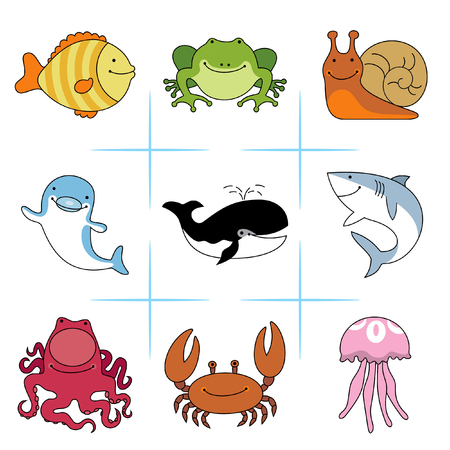 animals ocean and river