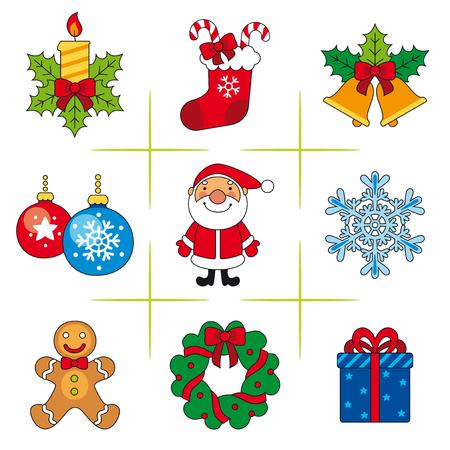 Set of christmas icons Reklamní fotografie - 76485107