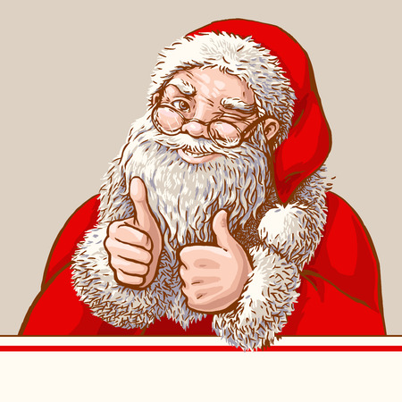 okey: Santa showing okey