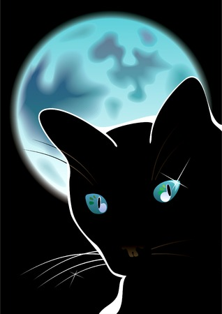 Cool black cat Ilustrace