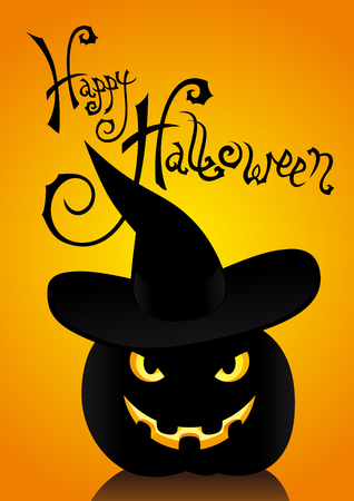 Cute halloween inscription Ilustrace
