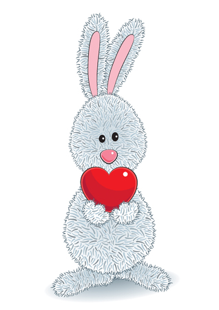 A rabbit with heart Ilustrace