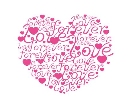 A love heart pink