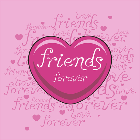 A friends heart pink