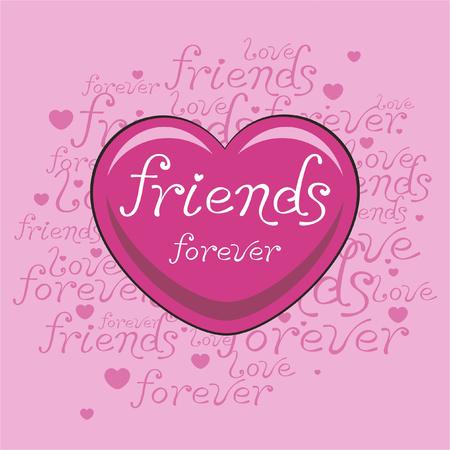 A friends heart pink