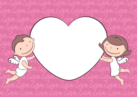 Cute illustration of love Ilustrace