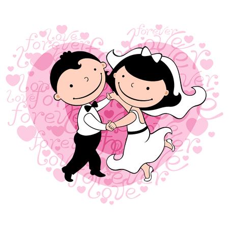 A newly-weds dance
