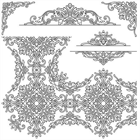 Graphic set elements in vintage style Reklamní fotografie - 76396276