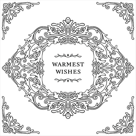 Ornate frame and elements in vintage style