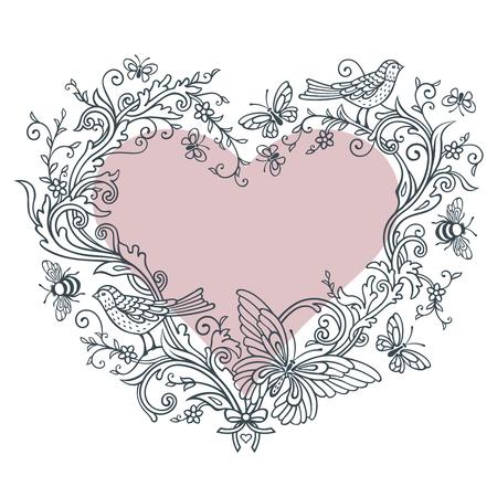 Ornate shape of Heart