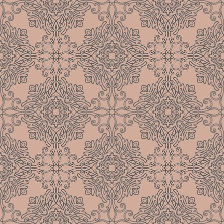 Cool decoretive damask pattern background Ilustrace