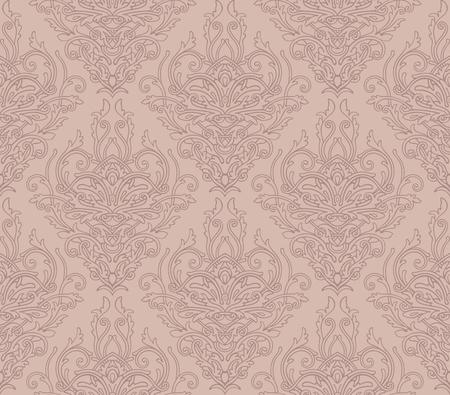 Ornate decorative damask pattern background Ilustrace
