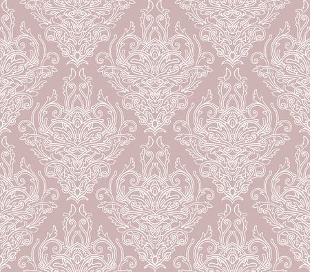 Retro decoretive damask pattern background Ilustrace