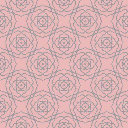 Pink decoretive damask pattern background with rose