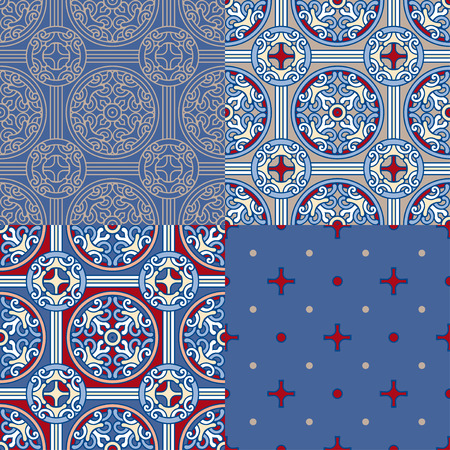 Set of 4 decorative backgrounds Reklamní fotografie - 76396715