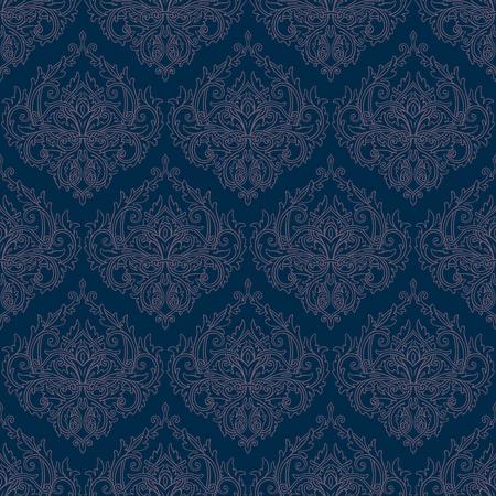 Blue seamless lace pattern Ilustrace