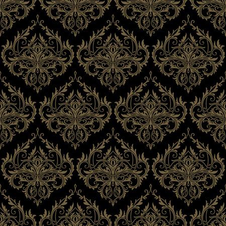 Gold seamless lace pattern
