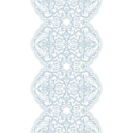 Blue lace ribbon seamless pattern