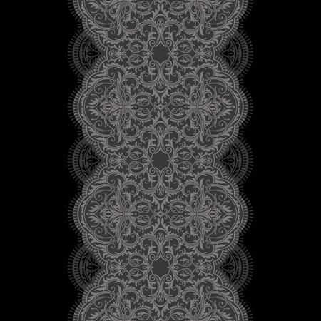Black  lace ribbon seamless pattern Ilustrace