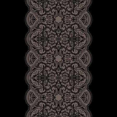 Dark lace ribbon seamless pattern