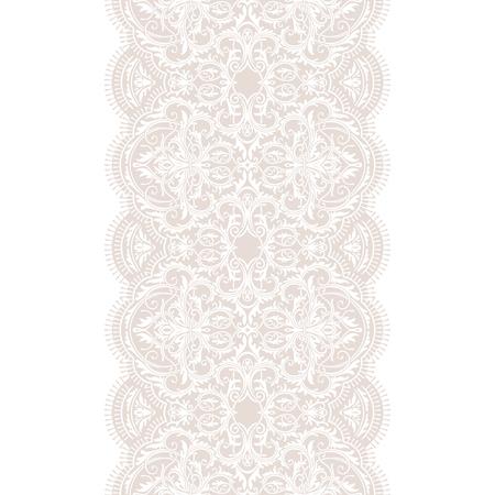 White lace ribbon seamless pattern Reklamní fotografie - 76396861