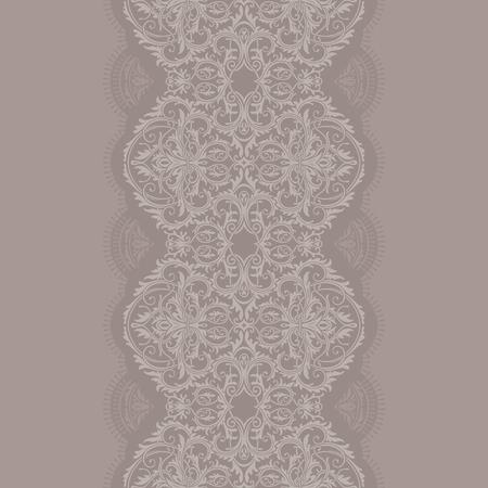 Grayish lace ribbon seamless pattern Ilustrace