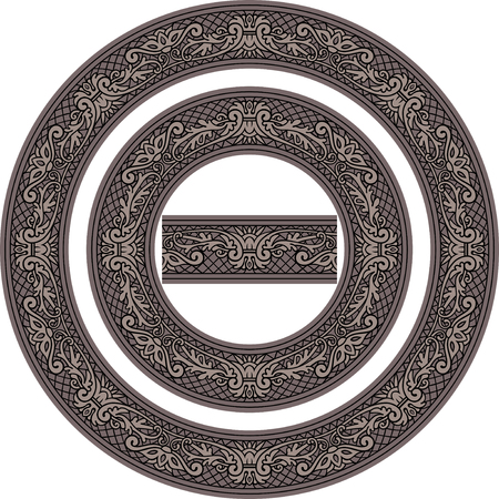 Set of decorative Circle Frames and Seamless element Ilustrace