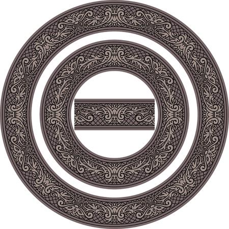 Set of decorative Circle Frames and Seamless element Reklamní fotografie - 76396864