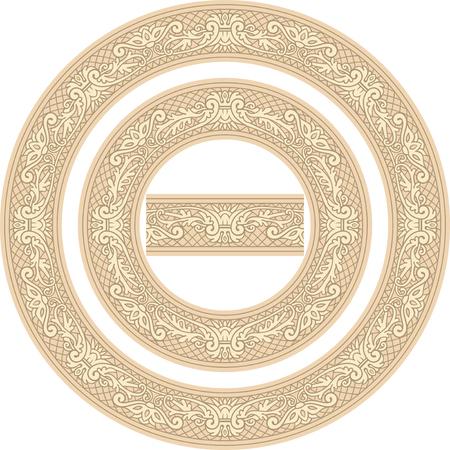 Set of decorative Circle Frames and Seamless element Reklamní fotografie - 76396865