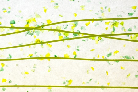 fused: stained glass green yellow confetti texture background