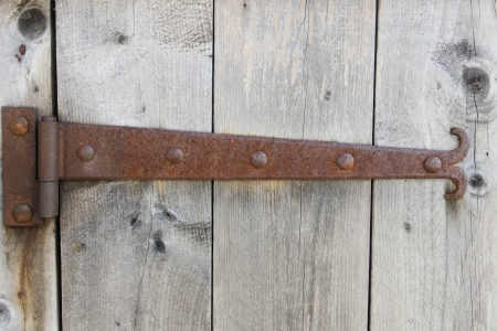 Barn door with hinge Stock Photo - 20297231