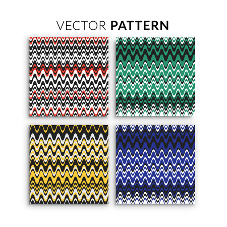 Pattern vector illustration background set. Cover with lines shape. Colorful poster template. Graphic design for the decoration of banners, cards, business cards, flyers and gift cards. Illustration