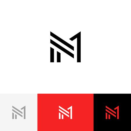 M 1 logo vectoriel signe des lettres m et un. Logo plat design avec couleur rouge pour entreprise ou marque. Banque d'images - 91729518