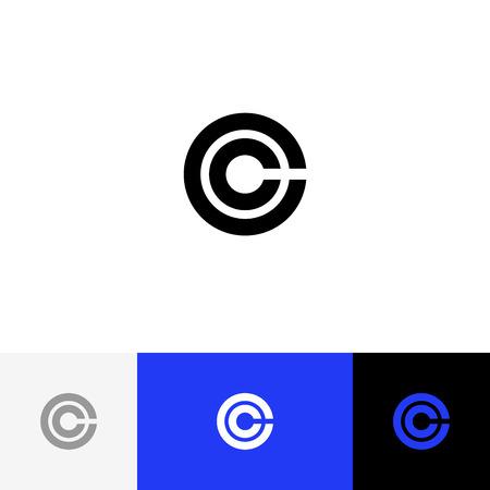 C en vecteur de cercle. Logo de minimalisme, icône, symbole. Banque d'images - 93814232