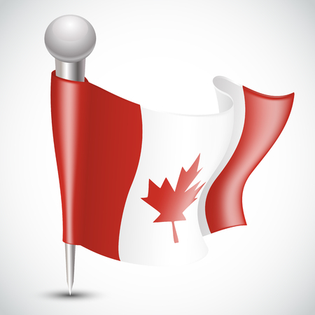 National Flag of Canada isoleted on white Vector illustration