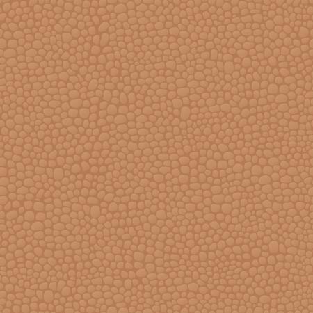 Leather seamless brown background pattern, skin texture. Vector illustration. Illustration